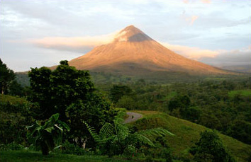 Arenal Volcano in Costa Rica.