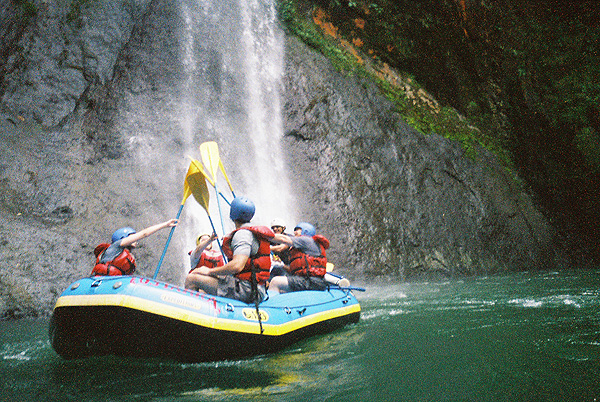 White water rafting on the Pacuare River in Costa Rica.