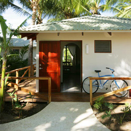 Bungalow at Harmony Hotel at Nosara Beach in Guanacaste, Costa Rica.