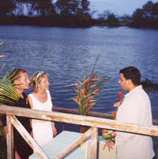 Wedding ceremony in Costa Rica.