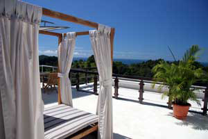 Terrace of a deluxe suite at the Gaia Hote in Manuel Antonio, Costa Rica.