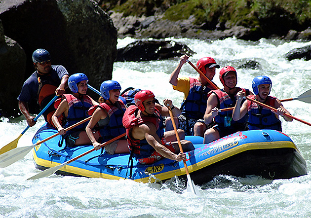 Rafting tour on the Pacuare River in Costa Rica.