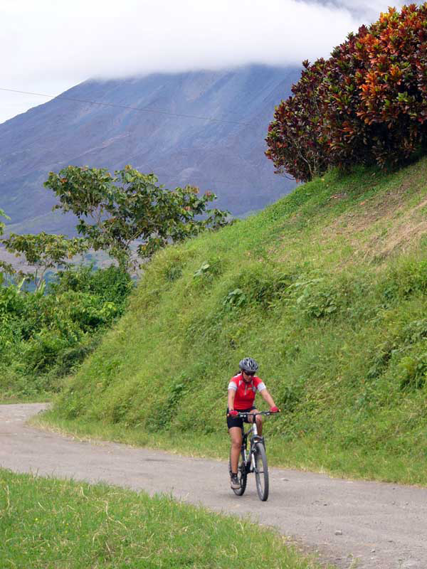 Mountain biking in Costa Rica.