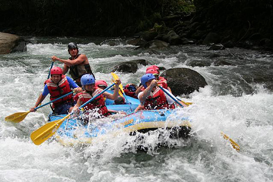 Whitewater rafting tour in Costa Rica.
