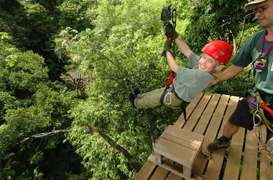 Canopy tour at Hacienda Baru in Costa Rica.