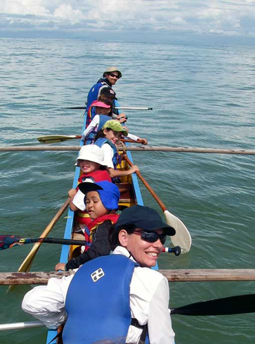 Outrigger canoe used on the Ultimate Costa Rica Adventure led by Costa Rica Expeditions.