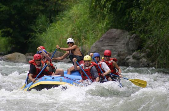 Pacuare river rafting trip in Costa Rica.