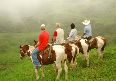 Horseback riding in the Central Highlands of Costa Rica.