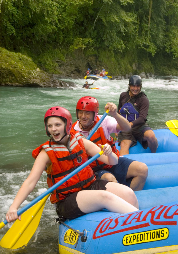 River rafting in Costa Rica.