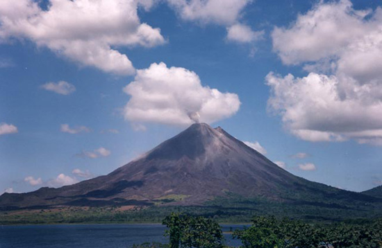 Arenal Volcano near La Fortuna, Costa Rica.