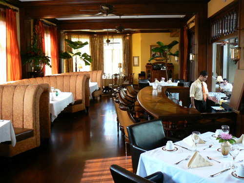Hotel Grano de Oro's fine restaurant, considered one of the best in San Jose, Costa Rica.