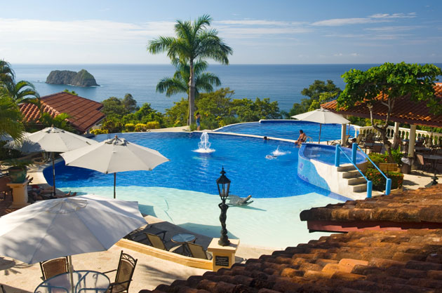 Pool at the El Parador Hotel in Manuel Antonio, Costa Rica.