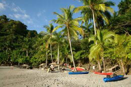 Beach at Tulemar Gardens in Manuel Antonio, where Buena Vista Villas is located.