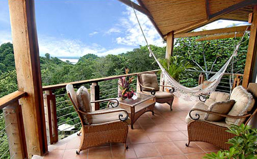 Terrace at Buena Vista Villas in Manuel Antonio, Costa Rica.