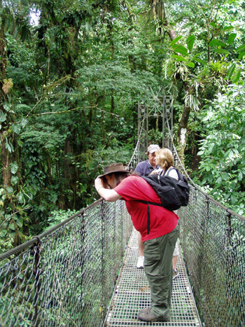 Arenal Hanging Bridges walk in Costa Rica.