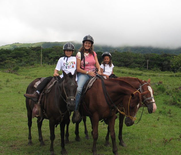 Horseback riding in Monteverde, Costa Rica.