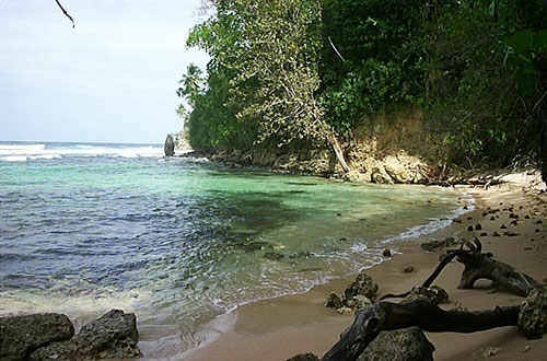 Puerto Viejo cove in the southern Caribbean region of Costa Rica.
