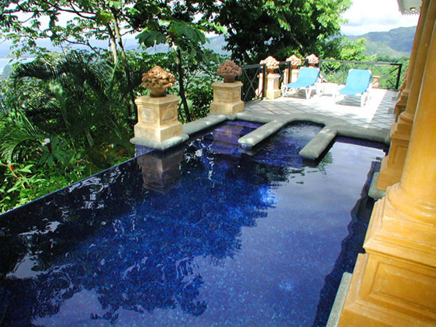 Private pool at the Villas Caletas Hotel in Costa Rica.