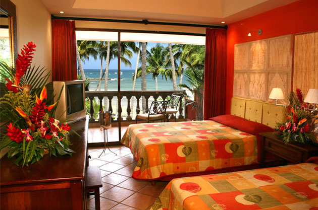 Room at the Tamarindo Diria Hotel in Costa Rica.