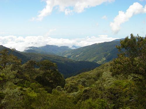 Cerro de la Muerte pass in Costa Rica.
