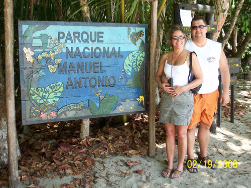 At Manuel Antonio National Park in Costa Rica.