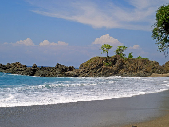 Beach on Costa Rica's southern Pacific coast.