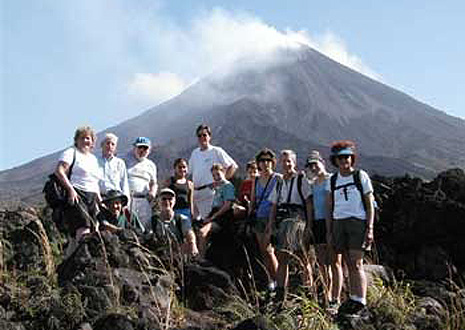 Family tour to Arenal Volcano, Costa Rica.