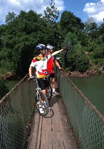 Mountain bike tour near Arenal Volcano.