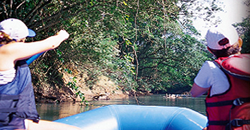 Float trip on the Penas Blancas River in Costa Rica.