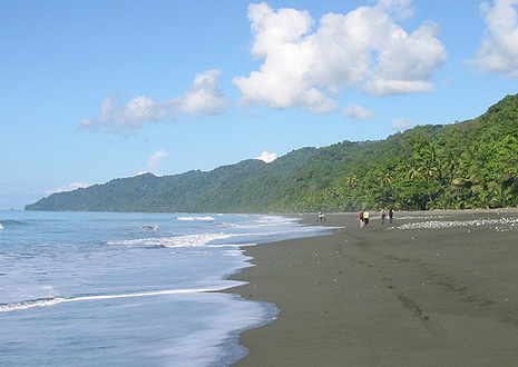 Walking on the beach on the Osa Peninsula near Corcovado Lodge.