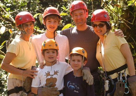 Family canopy tour in Manuel Antonio, Costa Rica.