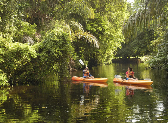 Kayaking in Costa Rica's Tortuguero National Park.