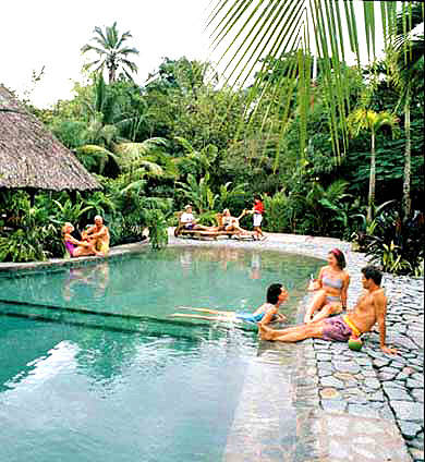 Tortuga Lodge pool in Tortuguero, Costa Rica.