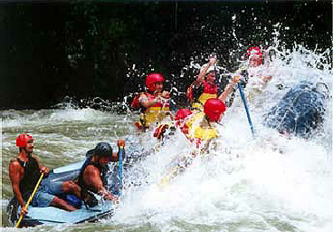 Pacuare River rafting tour in Costa Rica.
