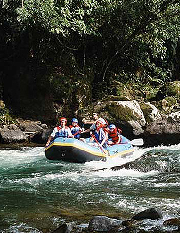 Whitewater rafting on the Reventazon River with Costa Rica Expeditions.
