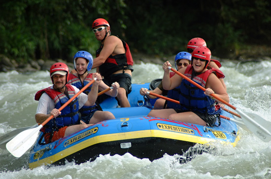 Whitewater rafting in Costa Rica.