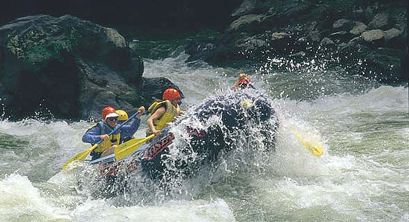 Costa Rica Expeditions Rafting tour on the Reventazon River.