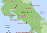 Costa Rica National Parks and Reseve Map